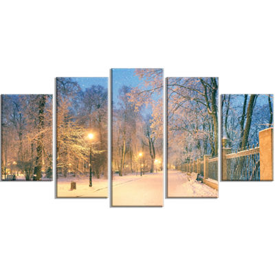 Designart Path in Mariinsky Garden Landscape PhotoCanvas Art Print - 5 Panels