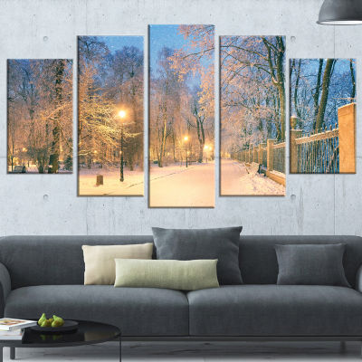 Path in Mariinsky Garden Landscape Photo Canvas Art Print - 5 Panels