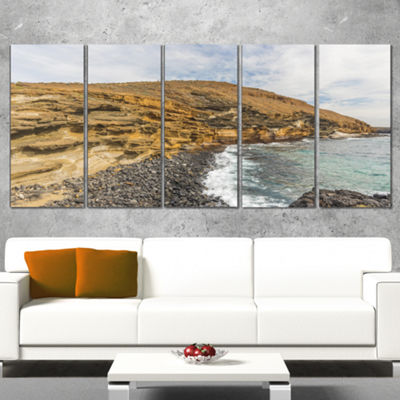 Designart Peninsula Going Beyond The Horizon Seashore CanvasArt Print - 5 Panels