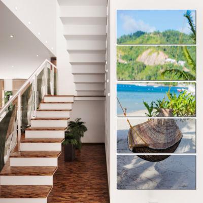 Philippines Tropical Paradise Landscape Photo Canvas Art Print - 4 Panels