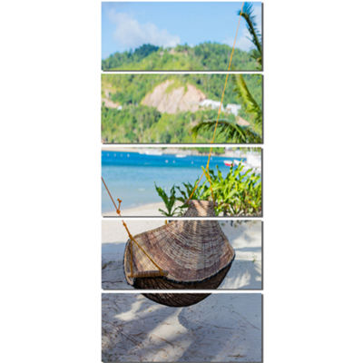 Designart Philippines Tropical Paradise LandscapePhoto Canvas Art Print - 5 Panels