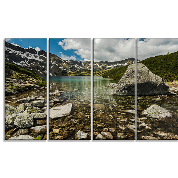 Designart Pond in Five Lakes Valley Landscape Canvas Art Print - 4 Panels