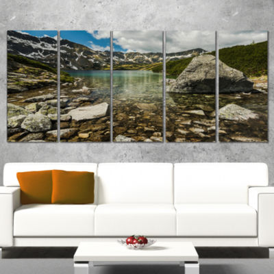 Designart Pond in Five Lakes Valley Landscape Wrapped CanvasArt Print - 5 Panels