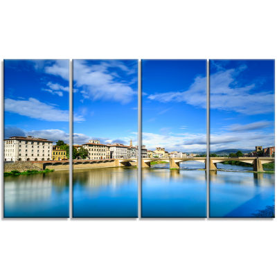 Ponte Alle Grazie Florence Italy Extra Large Seashore Canvas Art - 4 Panels