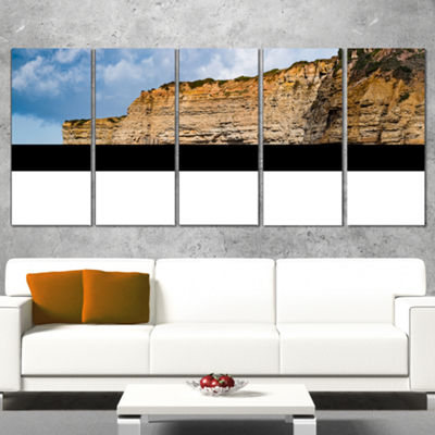 Designart Portuguese Atlantic Coast Panorama Landscape PrintWrapped Artwork - 5 Panels