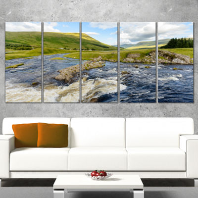 Designart Publi and River Lyon Landscape Photography CanvasArt Print - 4 Panels