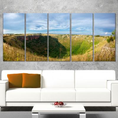 Designart Pulo Di Altamura Panorama Landscape Wrapped CanvasArt Print - 5 Panels