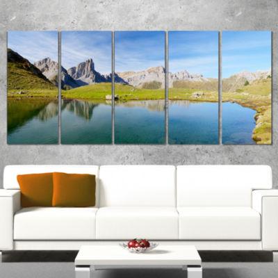 Designart Pyrenee in France Panorama Landscape Artwork Canvas - 5 Panels