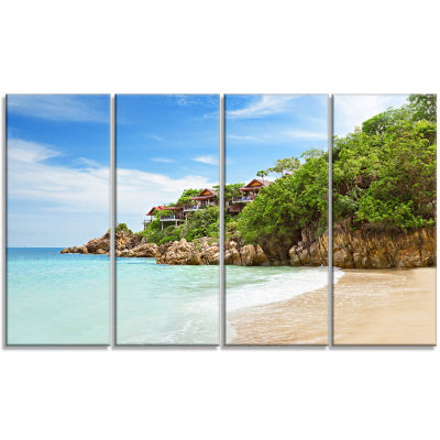 Resorts on The Rock Seascape Canvas Art Print - 4Panels