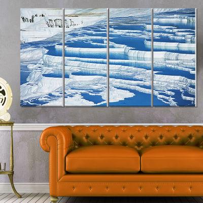 Rocky Hills and Grassland in Africa Oversized Landscape Canvas Art - 4 Panels