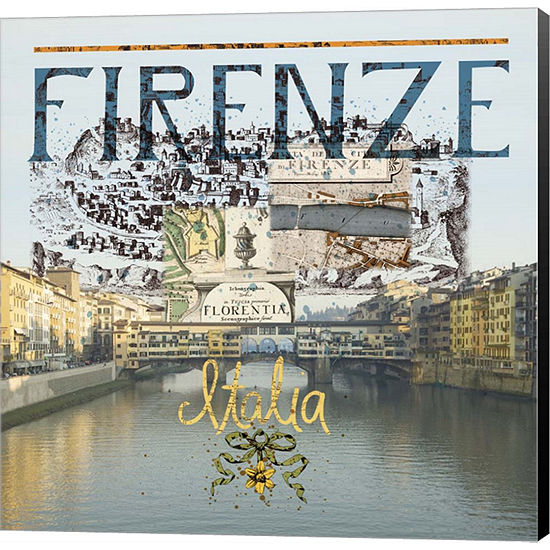 Metaverse Art Ponte Vecchio Museum Wrap Canvas Wall Art