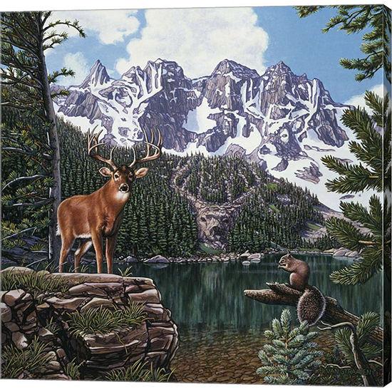 Metaverse Art Emerald Lake Gallery Wrap Canvas Wall Art