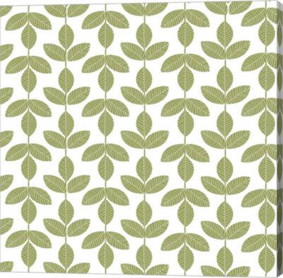 Metaverse Art Allover Leaf Pattern Gallery Wrap Canvas Wall Art