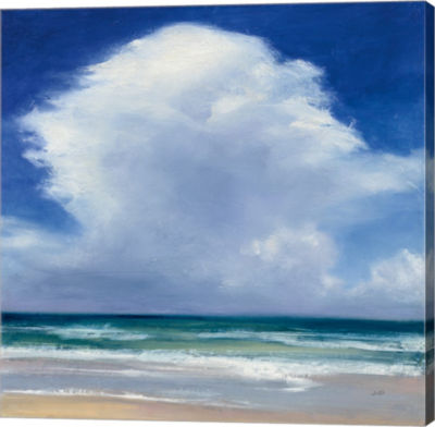 Metaverse Art Beach Clouds II Gallery Wrap Canvas Wall Art