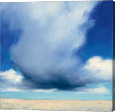 Metaverse Art Beach Clouds I Gallery Wrap Canvas Wall Art