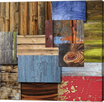 Metaverse Art Layered Wood Gallery Wrap Canvas Wall Art