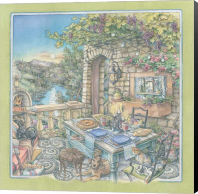 Metaverse Art Evening Idyll Museum Wrap Canvas Wall Art