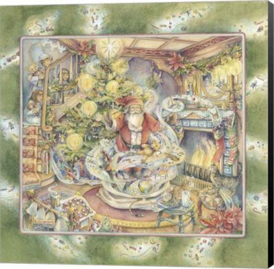 Metaverse Art Santa's Magic Museum Wrap Canvas Wall Art