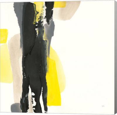 Metaverse Art Black and Yellow II Gallery Wrap Canvas Wall Art