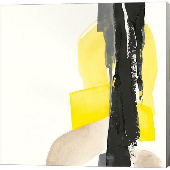 Metaverse Art Black and Yellow I Gallery Wrap Canvas Wall Art