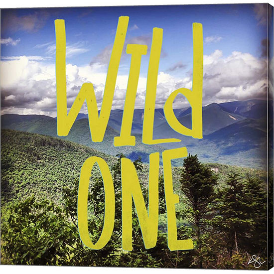 Metaverse Art Wild One Mountains Gallery Wrap Canvas Wall Art
