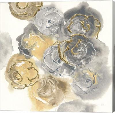 Metaverse Art Gold Edged Neutral II Gallery Wrap Canvas Wall Art