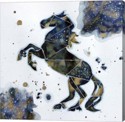 Metaverse Art Galactic Horse Gallery Wrap Canvas Wall Art