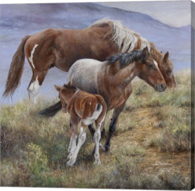Metaverse Art Family Ties the American Mustang Gallery Wrap Canvas Wall Art