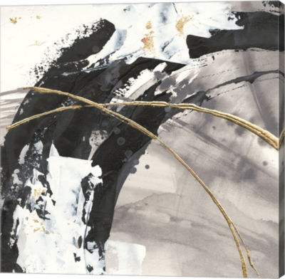 Metaverse Art Gilded Arcs II Gallery Wrap Canvas Wall Art