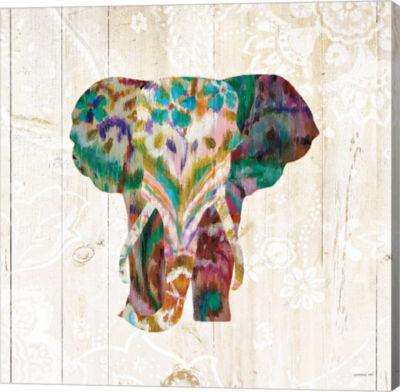 Metaverse Art Boho Paisley Elephant III Gallery Wrap Canvas Wall Art