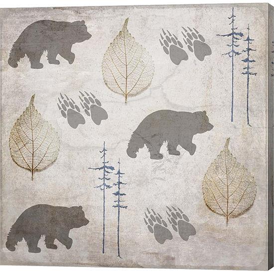 Metaverse Art Bear Lodge Pattern Gallery Wrap Canvas Wall Art