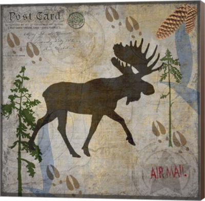 Metaverse Art Moose Lodge Museum Wrap Canvas Wall Art