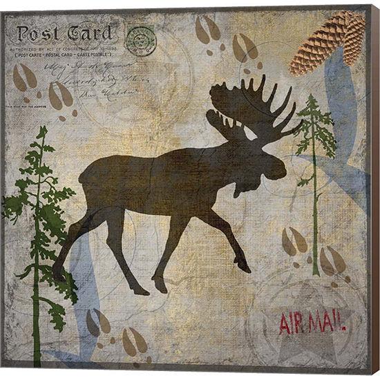 Metaverse Art Moose Lodge Museum Wrap Canvas Wall Art