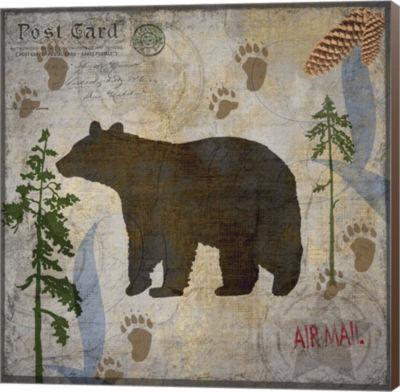 Metaverse Art Bear Lodge Museum Wrap Canvas Wall Art