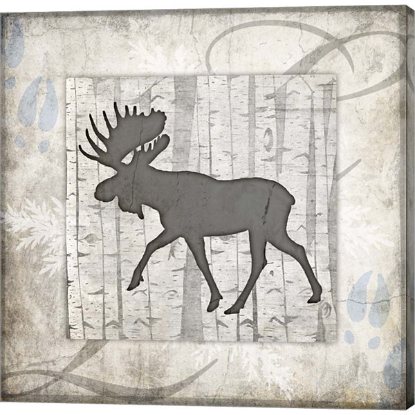 Metaverse Art Decorative Lodge Moose 2 Gallery Wrap Canvas Wall Art