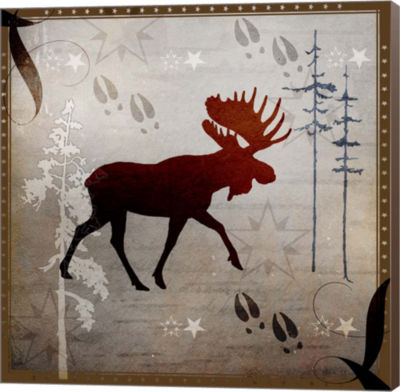 Metaverse Art Moose Tracks Museum Wrap Canvas Wall Art