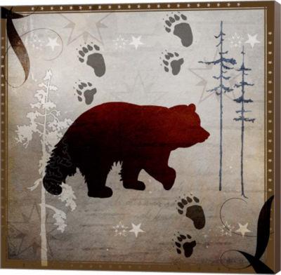 Metaverse Art Bear Tracks Museum Wrap Canvas Wall Art