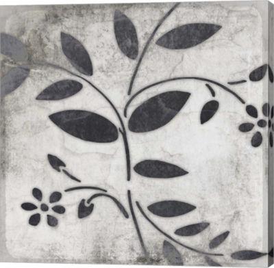 Metaverse Art Leaf Pattern 2 Gallery Wrap Canvas Wall Art