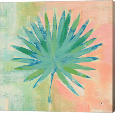 Metaverse Art Beach Cove Leaves II Gallery Wrap Canvas Wall Art
