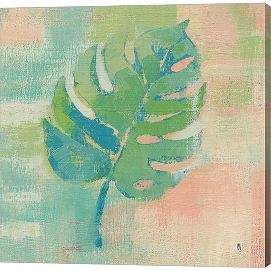 Metaverse Art Beach Cove Leaves I Gallery Wrap Canvas Wall Art