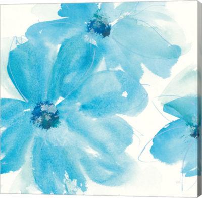 Metaverse Art Aqua Mint Clematis I Gallery Wrap Canvas Wall Art