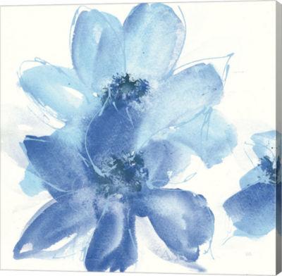 Metaverse Art Cobalt Clematis I Gallery Wrap Canvas Wall Art
