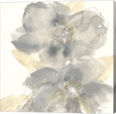 Metaverse Art Floral Gray II Gallery Wrap Canvas Wall Art