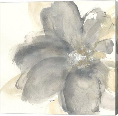 Metaverse Art Floral Gray I Gallery Wrap Canvas Wall Art