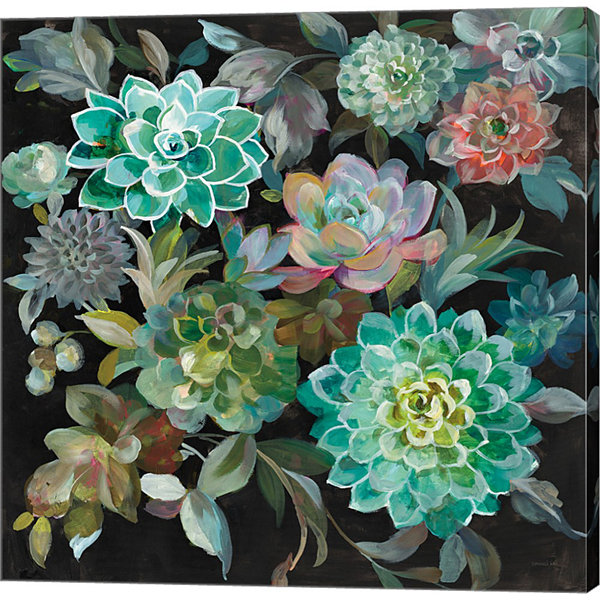 Metaverse Art Floral Succulents Gallery Wrap Canvas Wall Art