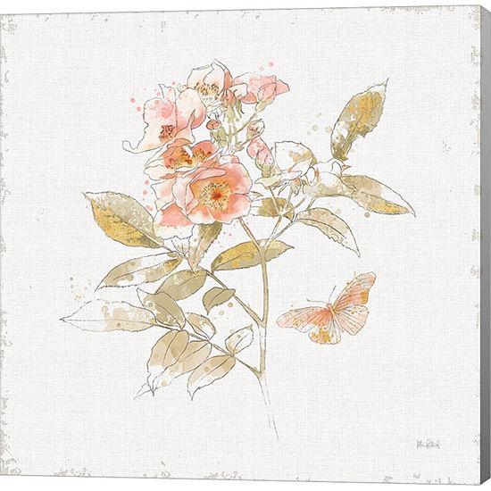 Metaverse Art Watery Blooms VI Gallery Wrap Canvas Wall Art