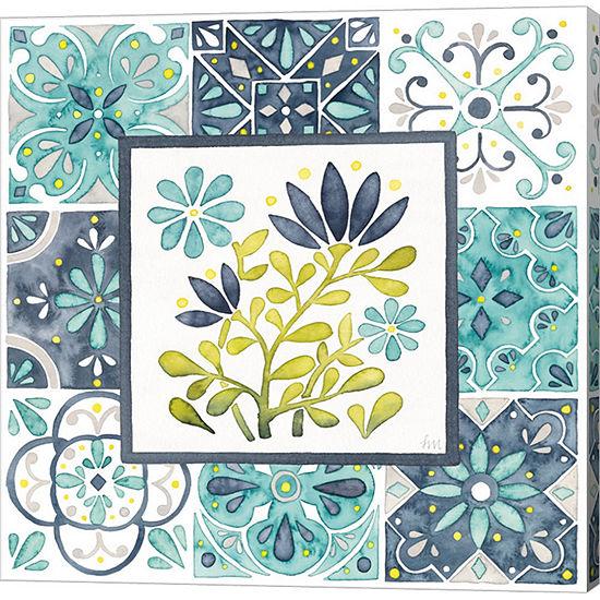 Metaverse Art Garden Getaway Patchwork Iii Gallery Wrap Canvas Wall Art