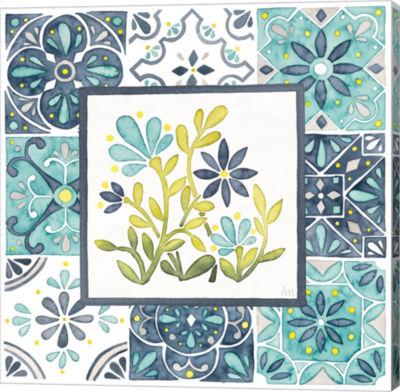Metaverse Art Garden Getaway Patchwork IV Gallery Wrap Canvas Wall Art