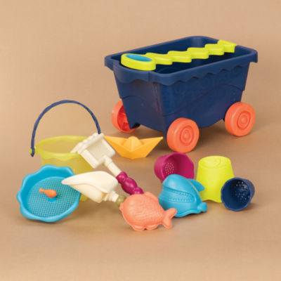 Battat B. Wavy Wagon Beach Toy Set