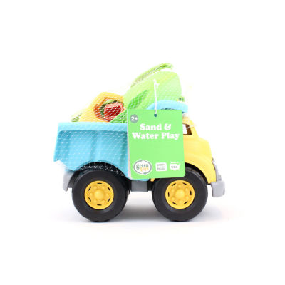 Green Toys Sand & Water Deluxe Play Set: Dump Truck W/ Scooper Shovel & Rake.